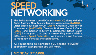 April 3rd: Speed Networking –  Joint event with other Business Councils