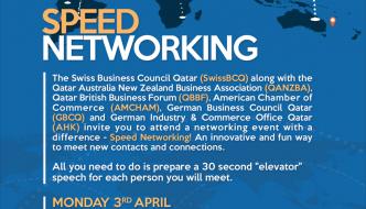 Speed networking event invitation